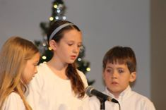 Ella, church Christmas program, 2014