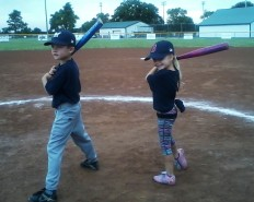 Jack & Julia at bat