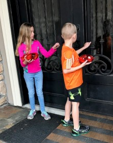 Kids at door